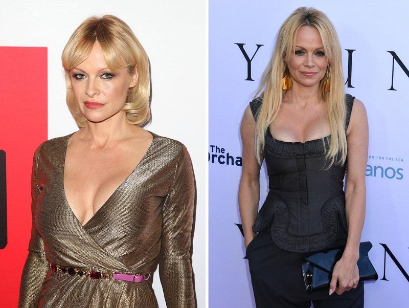 "12 March 2015 - Los Angeles, California - Pamela Anderson. ""The Gunman"" Los Angeles Premiere held at Regal Cinemas L.A. Photo Credit: F. Sadou/AdMedia Photo via Newscom"