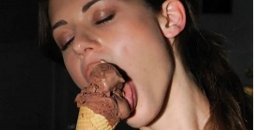 young chick is eating load of cum with great pleasure  356757
