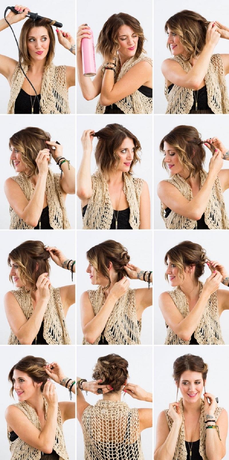 Как сделать красивую причёску для каре