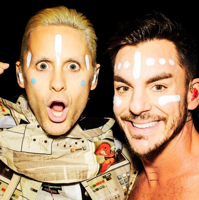 19 MAR 2015  JARED LETO AND BROTHER SHANNON IN THIS GREAT CELEBRITY TWITTER PICTURE! BYLINE MUST READ : SUPPLIED BY XPOSUREPHOTOS.COM *XPOSURE PHOTOS DOES NOT CLAIM ANY COPYRIGHT OR LICENSE IN THE ATTACHED MATERIAL. ANY DOWNLOADING FEES CHARGED BY XPOSURE ARE FOR XPOSURE'S SERVICES ONLY, AND DO NOT, NOR ARE THEY INTENDED TO, CONVEY TO THE USER ANY COPYRIGHT OR LICENSE IN THE MATERIAL. BY PUBLISHING THIS MATERIAL , THE USER EXPRESSLY AGREES TO INDEMNIFY AND TO HOLD XPOSURE HARMLESS FROM ANY CLAIMS, DEMANDS, OR CAUSES OF ACTION ARISING OUT OF OR CONNECTED IN ANY WAY WITH USER'S PUBLICATION OF THE MATERIAL* *UK CLIENTS MUST CALL PRIOR TO TV OR ONLINE USAGE PLEASE TELEPHONE 0208 344 2007*
