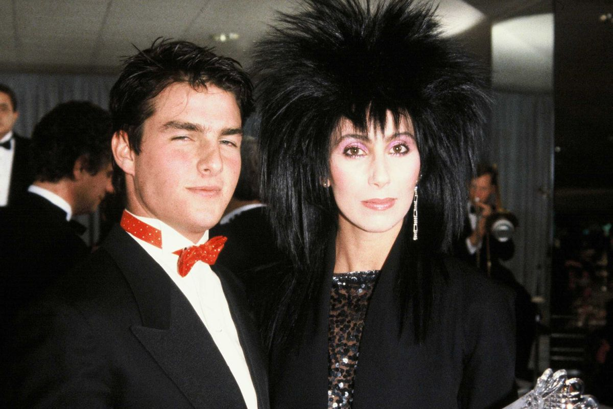 Cher and Tom Cruise at the White House, Washington, America - 30 Oct 1985