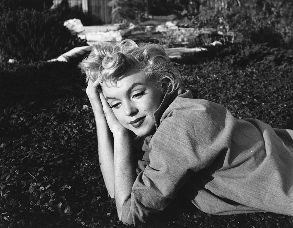1954:  A wistful Marilyn Monroe (Norma Jean Mortenson or Norma Jean Baker, 1926 - 1962).  (Photo by Baron/Getty Images)
