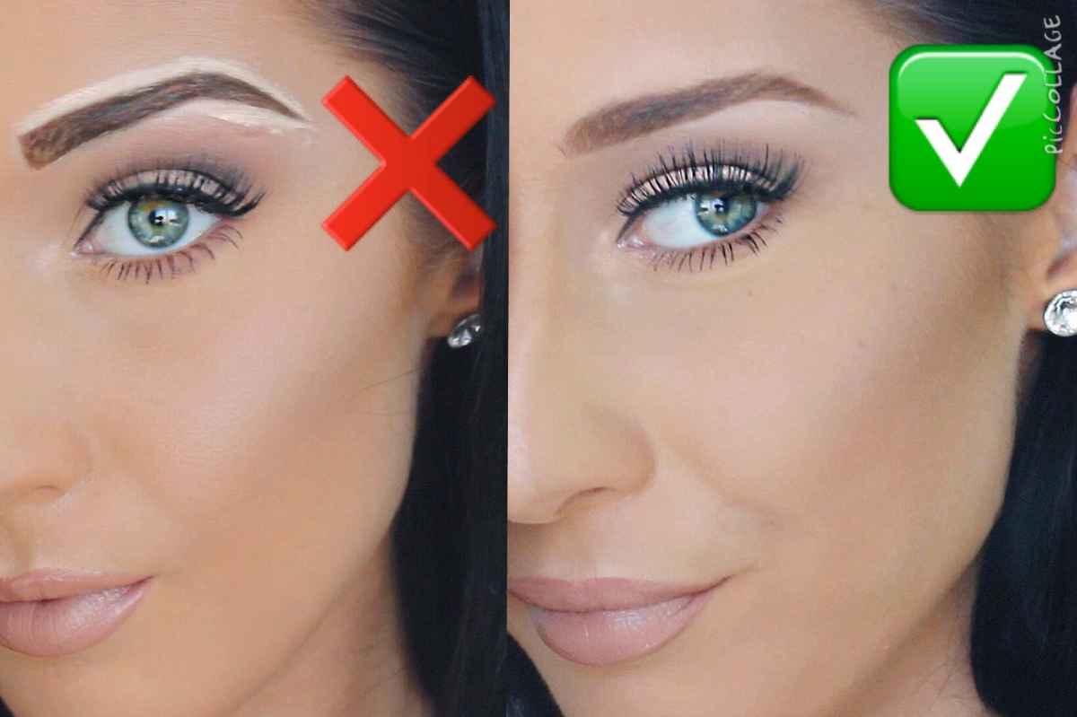 как правильно красить брови краской видео
