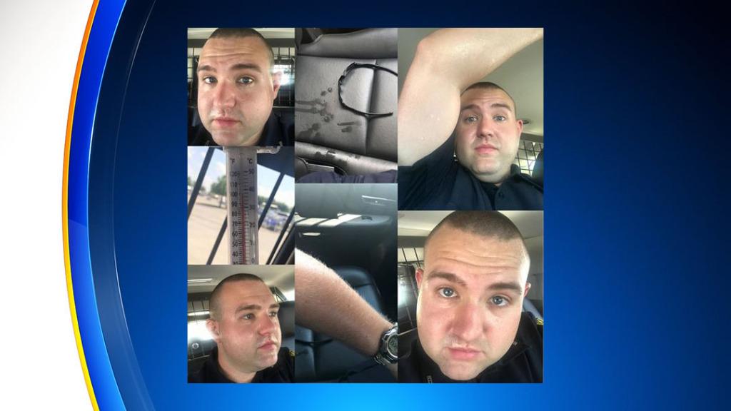 Офицер проводит 45 минут в горячем автомобиле, чтобы указать на опасность и объяснить почему в нем нельзя долго оставаться