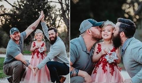 """У малышки """"два папы"""", душевная история маленькой принцессы. Но это не то о чем вы подумали!"""